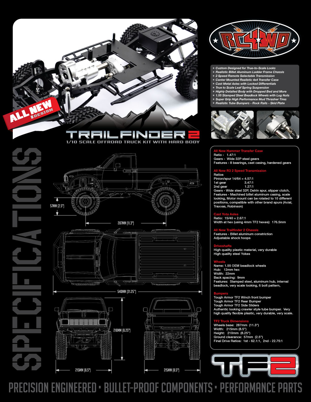 new rc4wd TF2_Specs