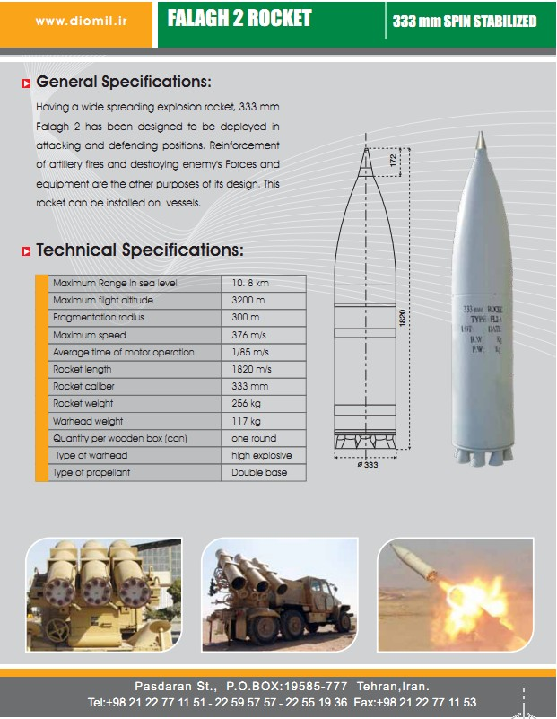 IR of Iran Armed Forces Photos and Videos Falaq-2-falagh-2-iran-333mm-rocket-launcher