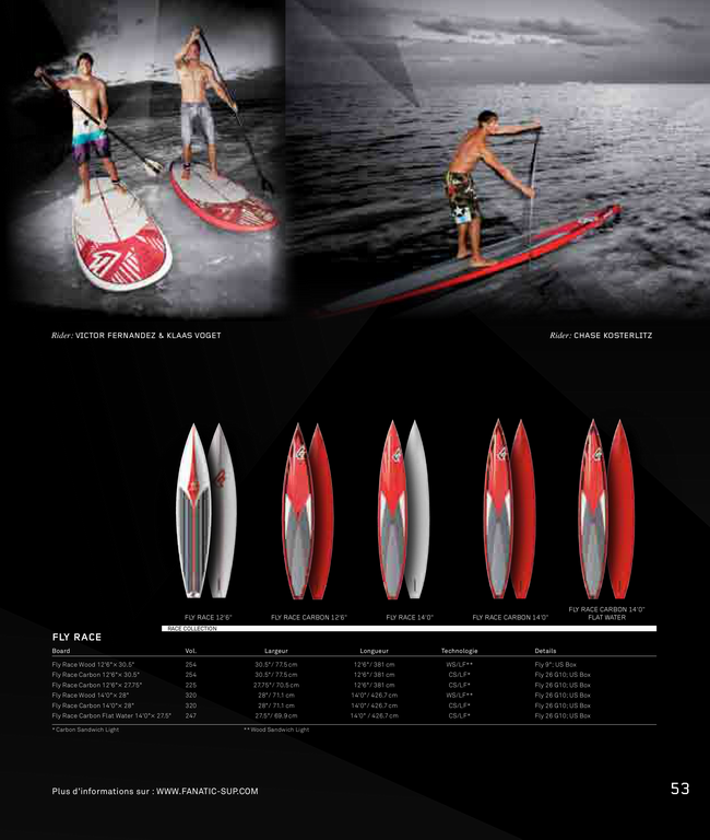 "[Vendue]Fanatic Fly Race carbone 12'6"" 2012"