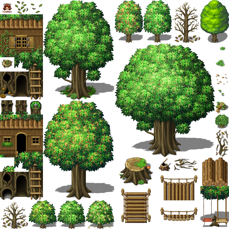 Recursos gráficos (Tilesets) PandaMaru_MV_nature1