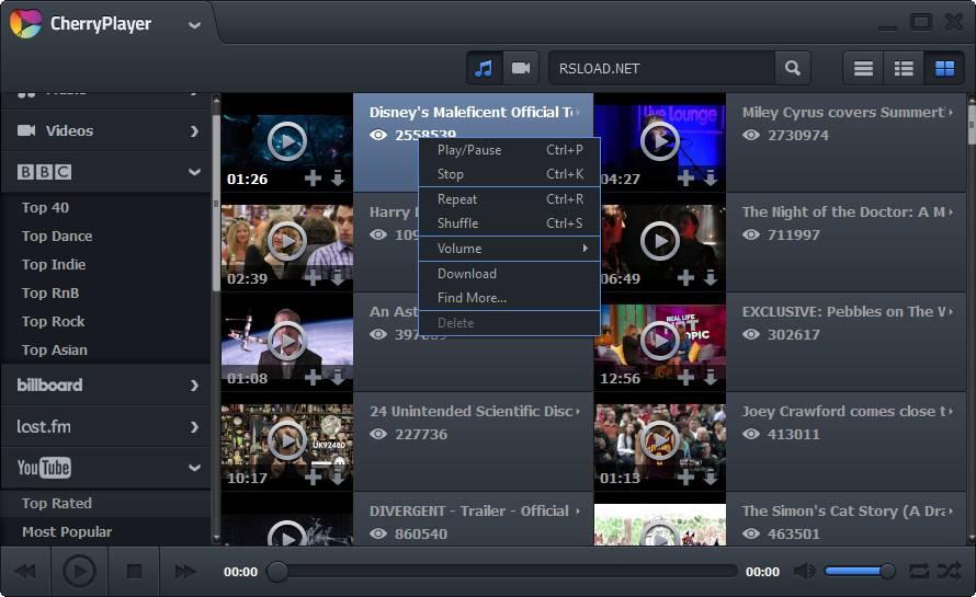 برنامج تشغيل جميع صيغ الفيديو والصوت CherryPlayer 2.2.8 CherryPlayer.2.0.0.Beta2