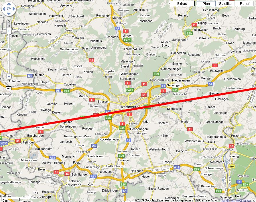 (ISS) 08/07/2009 - Observation d'un objet Lumineux - Luxembourg Plan2