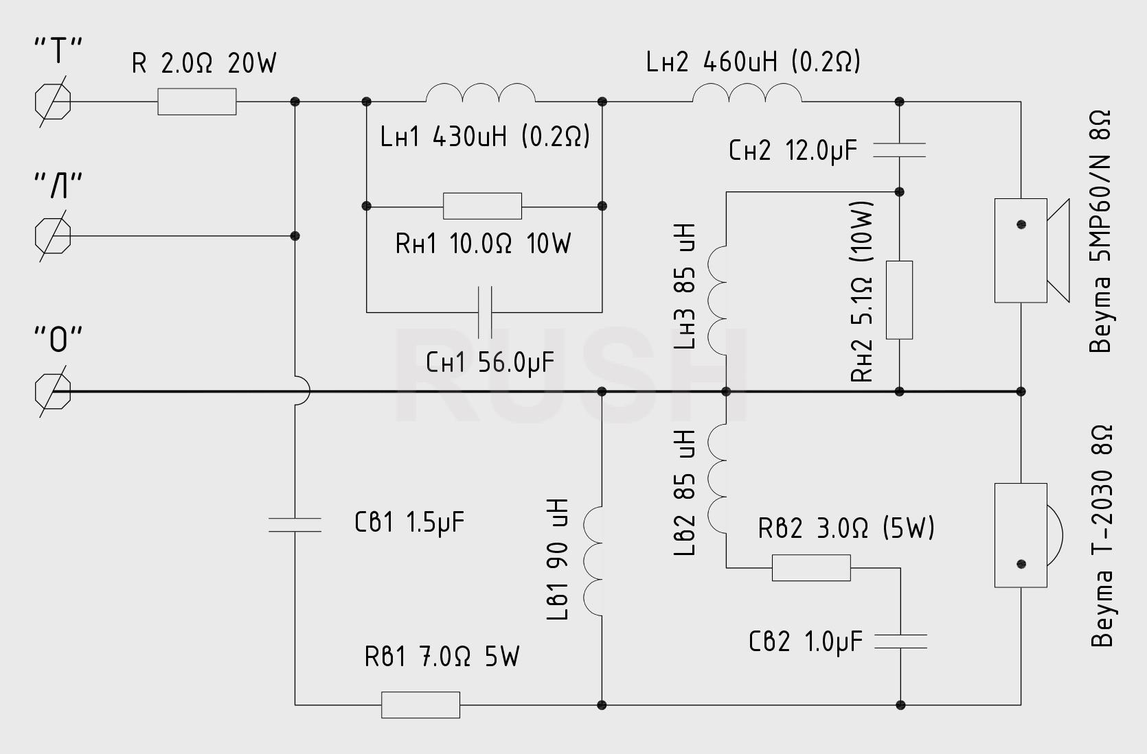 Акустические системы RUSH Filter_scheme_as2b