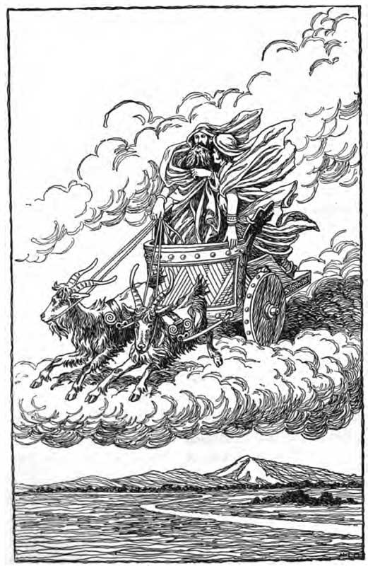 Скандинавские боги Thor-loki