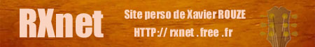 Site perso de Xavier ROUZE
