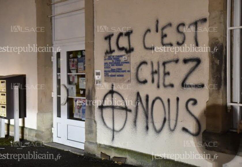 Des tags antisémites dans un haut lieu de la résistance française à Thann Photo-l-est-republicain