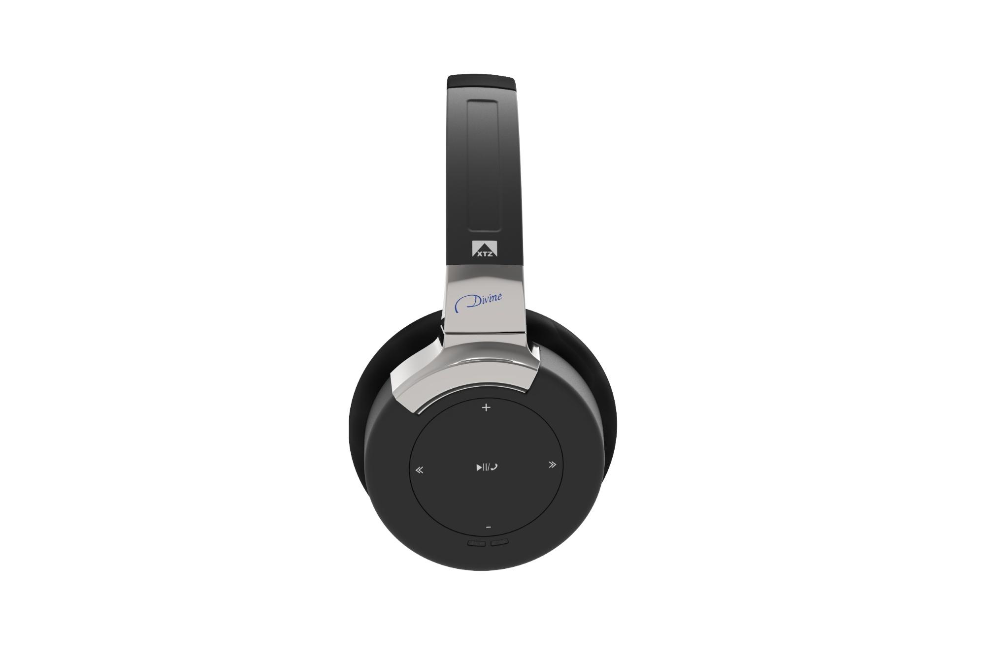 Auriculares wireless Xtz_headphone_divine_dsp_on-ear_mic3_black-33221947-xtra5