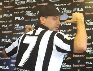 Botafogo espera 2 mil torcedores para encontro com Túlio Maravilha Tuliocamisa_gcom-162