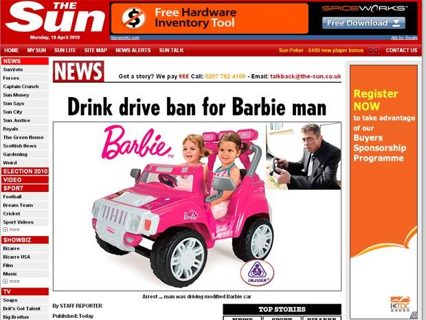 Imagens [Humor] Conduz Barbie e fica sem carta!!! Dink620