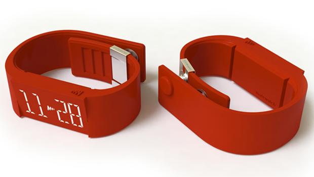 Relógio de pulso 'silencioso' tem visor touchscreen e carregador via USB Mutewatch1