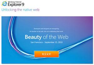 Microsoft promete versão beta do Internet Explorer 9 para setembro Ie9