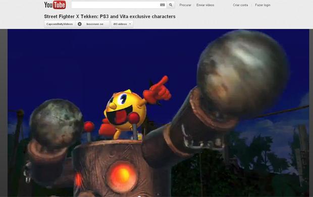 SF x Tekken - Vazou lista de personagens Pacman