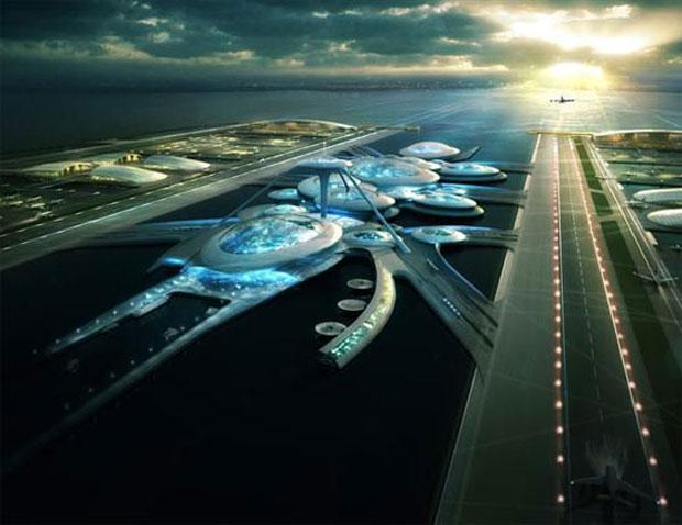 aeroporto - [Internacional] Arquitetos propõem aeroporto flutuante para Londres  Arquitetos-propoem-aeroporto-flutuante-para-londres
