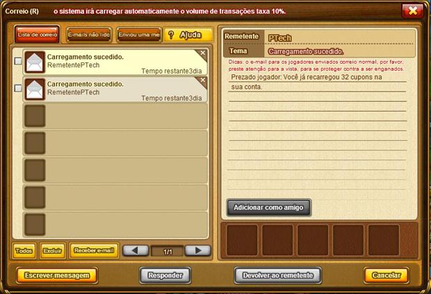 DDTank: aprenda como ganhar cupons no popular game Mensagemrecarga