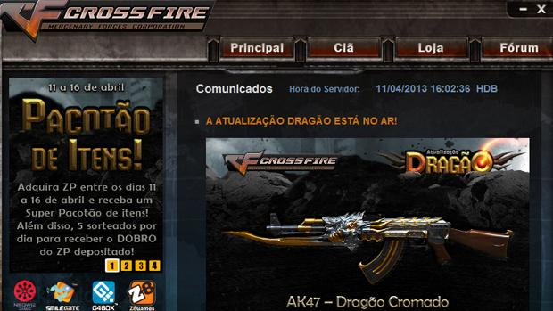 Como jogar CrossFire online, o popular FPS Crossfire_menu-inicial