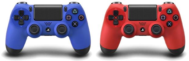 PlayStation 4 terá joysticks coloridos, estação de recarga e outros periféricos Dualshock-4-dual-shock-wave-blue-magma-red