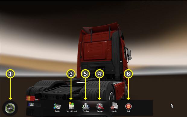 Euro Truck Simulator 2: aprenda a jogar o simulador de caminhões Menu-1_re