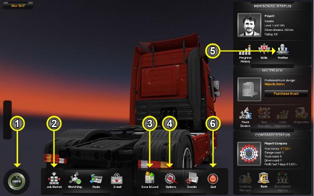 Euro Truck Simulator 2: aprenda a jogar o simulador de caminhões Menu-2_re