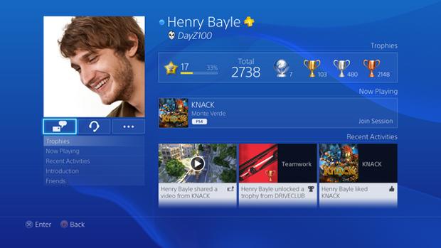 PlayStation 4: Sony divulga fotos inéditas da interface do console Playstation-4-ps4-interface-4-perfil
