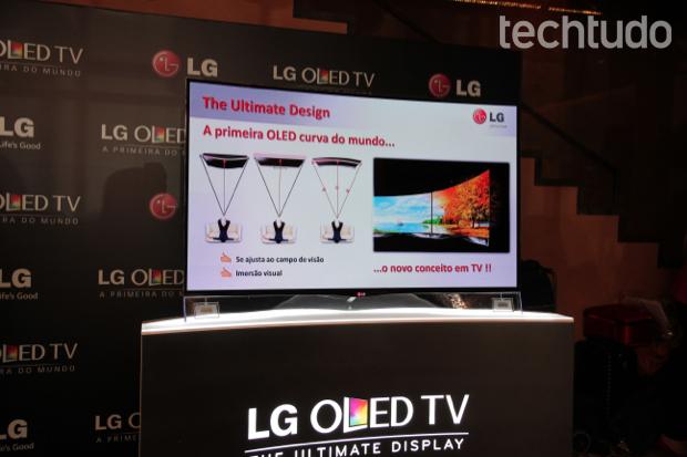 LG lança primeira TV OLED curvada no Brasil por preço 'assustador' Oled-1