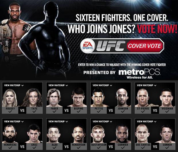 EA Sports UFC: Anderson Silva fica fora de votação para escolher capa do jogo Jon-jones-ea-sports-ufc-votacao