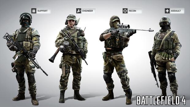 Dicas úteis para melhorar seu desempenho no BF4  Battlefield-4-classes