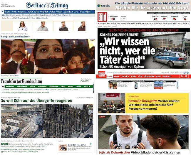 'La crisis migratoria puede llevar a Alemania a la Guerra Civil' Portadas-periodicos-alemanes-agresiones-sexuales-alemania
