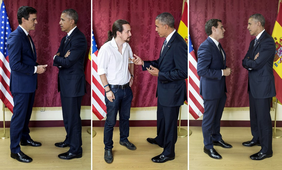¿Cuánto mide Barack Obama? - Estatura y peso - Real height and weight Obama-sanchez-iglesias-rivera-efe-13072016-1