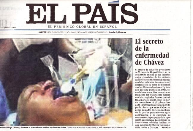 """El País"" o como cepillarse un periódico en un plis. Hugo-chavez-elpais"