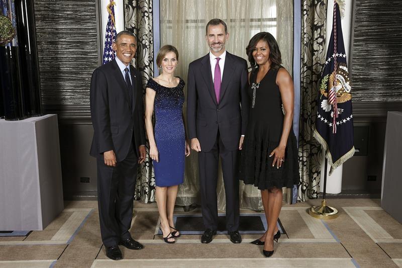 ¿Cuánto mide Michelle Obama? - Altura - Real height Letizia-felipe-obama