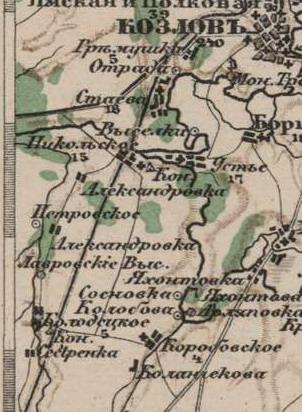 Лавровские Подворки на картах B6b8b3c12f49