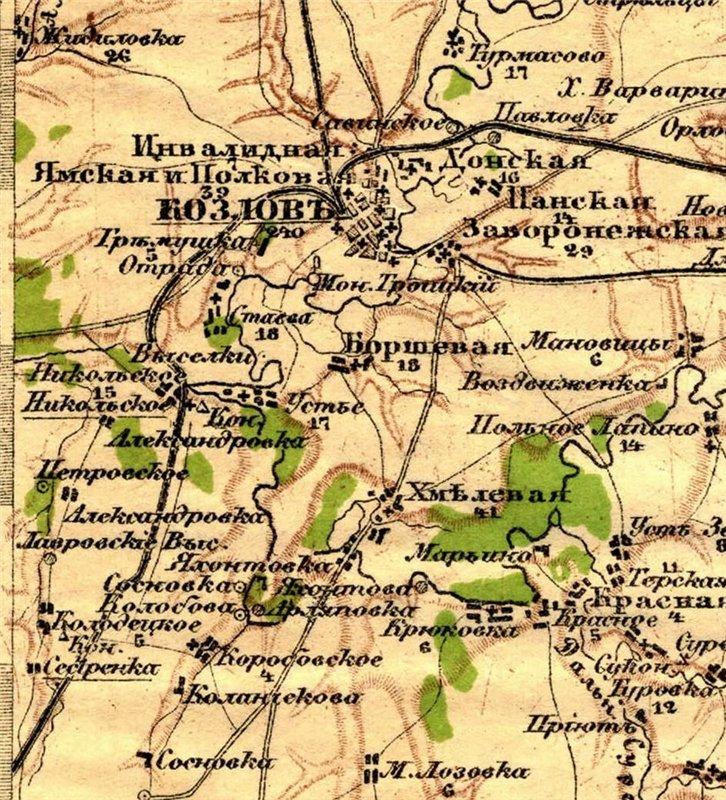 Лавровские Подворки на картах F41fa1d9ac61