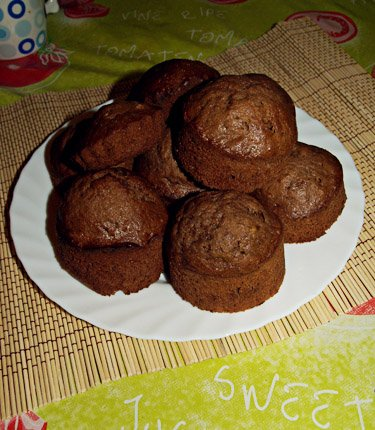 Шоколадно-банановые маффинс 512345ab3d74