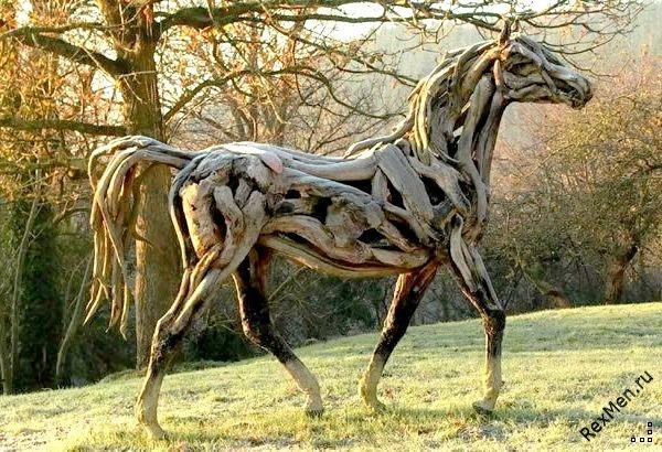 Потрясающие деревянные лошади 3ad32f1bb247