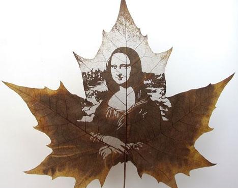 Креатив на кленовых листьях 8707dd50810b