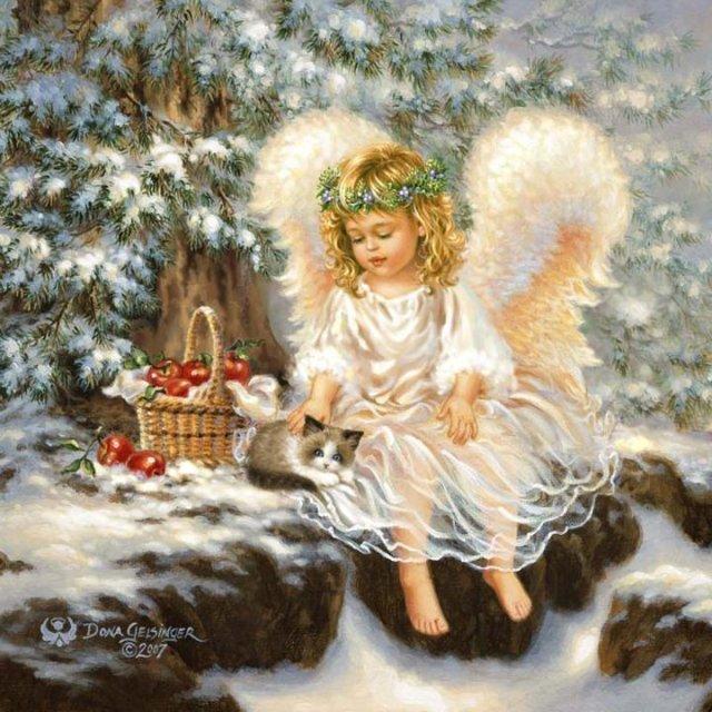 Рождественские ангелы от Dona Gelsinger Bb8faacb9e16