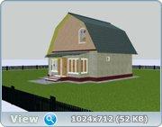 Проект часного дома с мансардой  3082c4a0a6eb