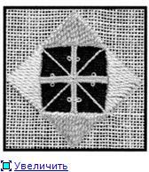 Хардангер Урок: Picots and Diagonal twists 4694f90e7af9t