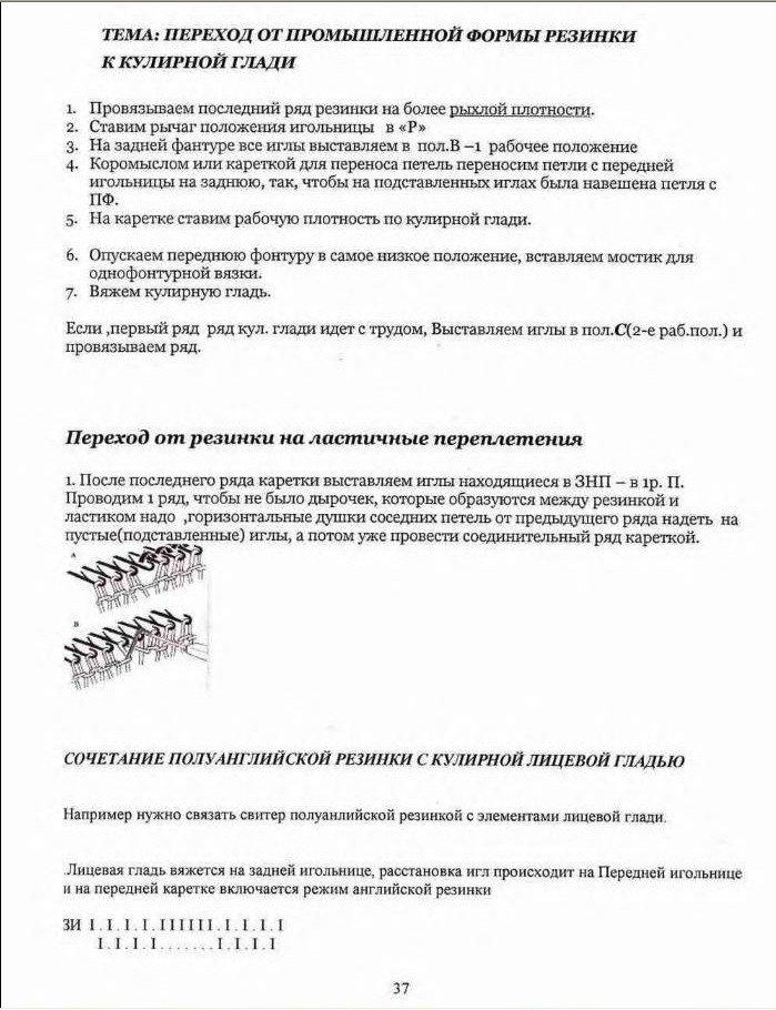 Начальный курс по обучению вязания на вязальной машине SILVER REED   48a233a91d5d