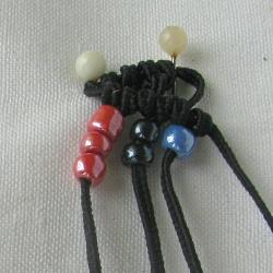 10 плетёных цепочек с бисером в технике макраме A854fb3e0d27