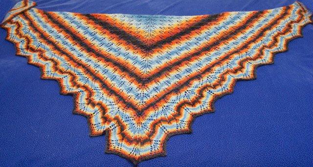 Вязаная шаль, шарфы 8cc002ea55d4