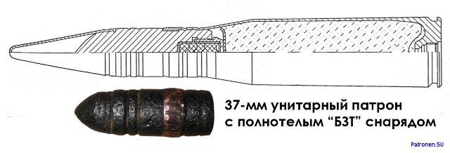 Бронебойно-зажигательно-трассирующий (БЗТ) снаряд авиационного патрона Ш-37 (корпус) 3878601b3c31