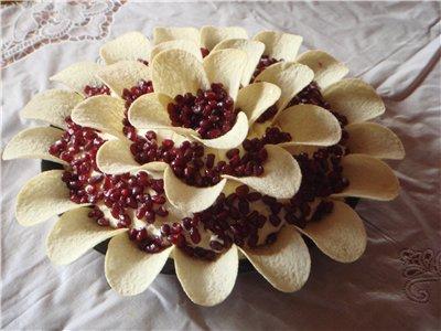 """Салат """"Гранатовый цветок"""" 203372dce9a0"""