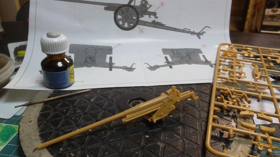 76-мм Дивизионная пушка Ф-22 обр.1936г., 1/35, (ICM 35702). 00fe66285a6f