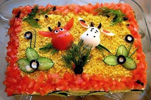 Идеи украшения салатов Ad9ef5ddcb88