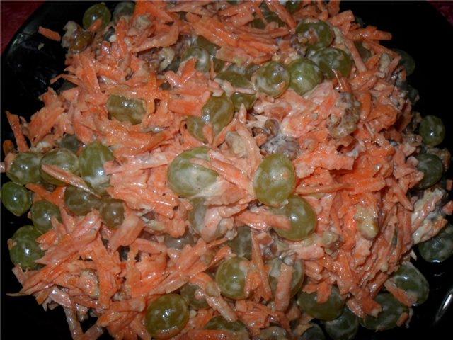 Морковный салат с виноградом 48cabf257e5a
