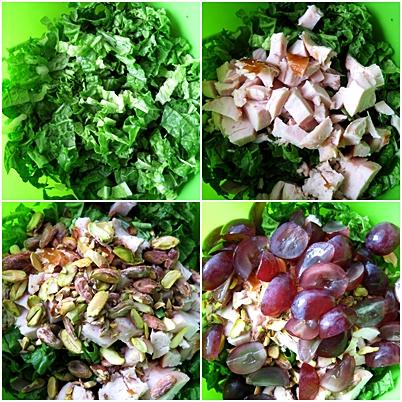 Салат с курицей, виноградом и фисташками 4ced3242a3ba