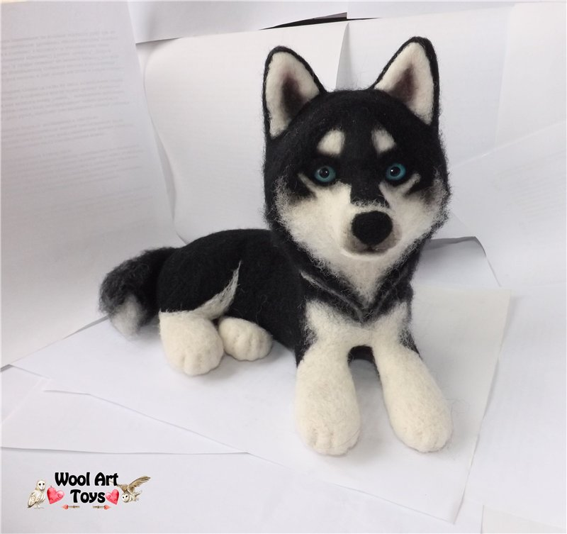 Miniature Sculpture of your dog. Needle Felted Dog  442b58483732