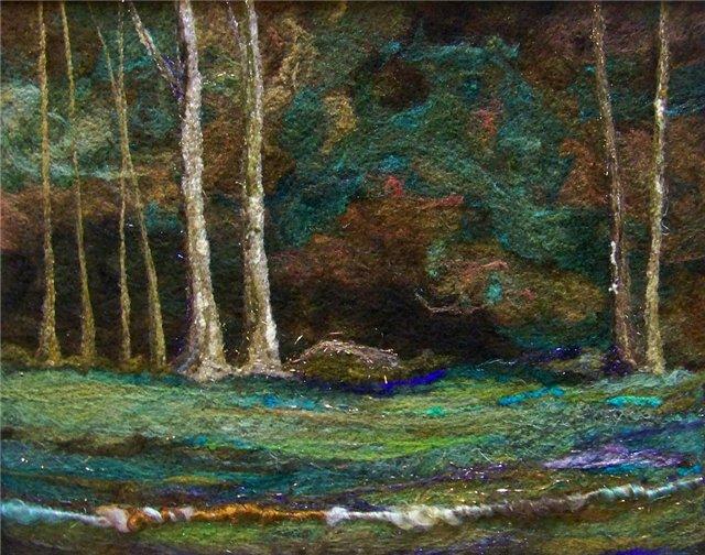 Deebs Fiber Arts создаёт чудесные картины из войлока. 1c5f30375d9f