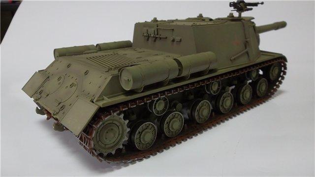 """ИСУ-152 """"Зверобой"""", 1/35, (Звезда 3532) перекраска старой модели. 7622e3c96e8c"""